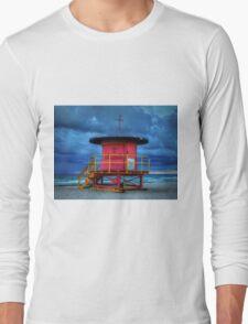 Miami - South Beach Lifeguard Stand 005 Long Sleeve T-Shirt