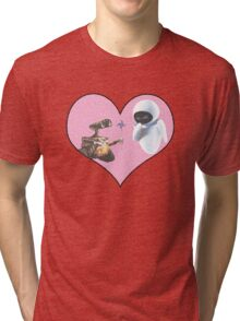 Wall-E and Eve Tri-blend T-Shirt