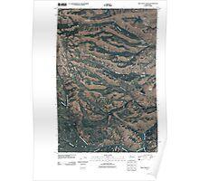 USGS Topo Map Washington State WA Willy Dick Canyon 20110502 TM Poster