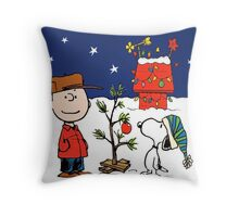 snoopy christmas Throw Pillow