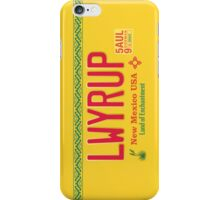 LWYRUP License Plate (Breaking Bad) iPhone Case iPhone Case/Skin