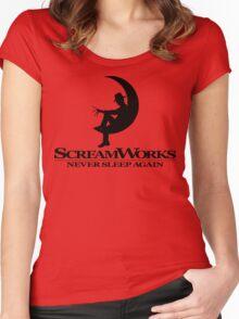 ScreamWorks (Black) Women's Fitted Scoop T-Shirt