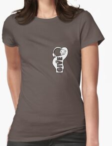 Give Womens Fitted T-Shirt