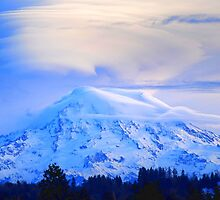 Lenticular Clouds Over Rainier by Tori Snow