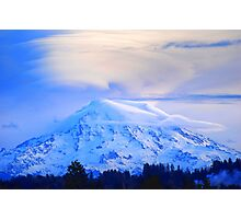 Lenticular Clouds Over Rainier Photographic Print