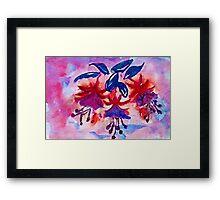 Revised, Fushia, the  dancing ballernias, watercolor Framed Print