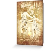 Blessed Yule Greeting Card