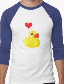 I Love My Rubber Ducky [iPad / iPhone / iPod Case, Print & Tshirt] Men's Baseball ¾ T-Shirt