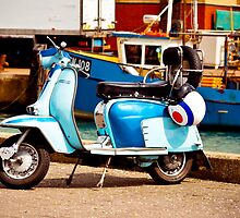 Blue Lambretta by Simon Evans