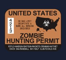 Zombie Hunting Permit 2012/2013 Baby Tee