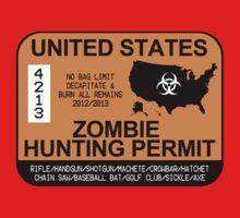 Zombie Hunting Permit 2012/2013 Kids Tee