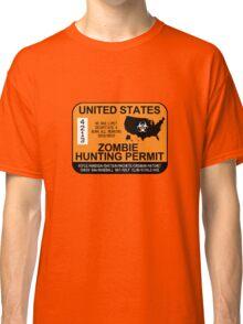 Zombie Hunting Permit 2012/2013 Classic T-Shirt
