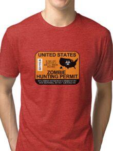 Zombie Hunting Permit 2012/2013 Tri-blend T-Shirt