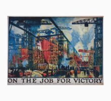 On the job for victory United States Shipping Board Emergency Fleet Corporation 1 Kids Tee