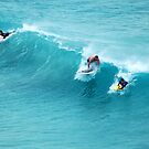 Three Surfers by Eve Parry