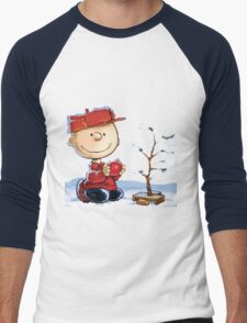 snoopy christmas Men's Baseball ¾ T-Shirt