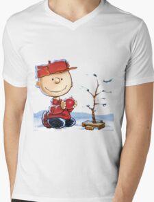 snoopy christmas Mens V-Neck T-Shirt