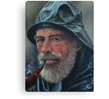 Old Sailor Oil Painting Canvas Print