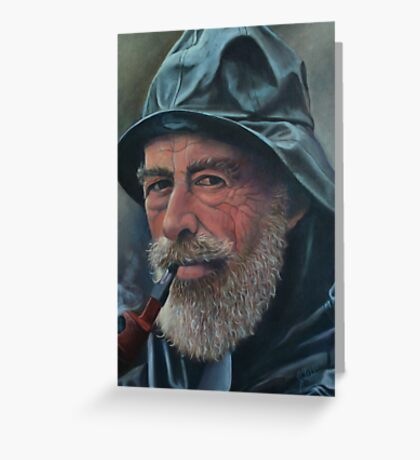 Old Sailor Oil Painting Greeting Card