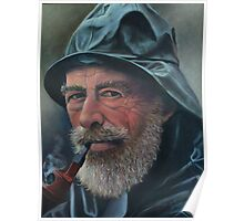 Old Sailor Oil Painting Poster
