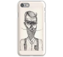 Mister Sir illustration iPhone Case/Skin