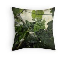 Woven in the grape leaves Throw Pillow