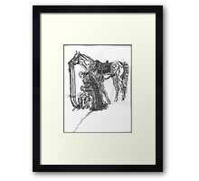 Humble Thy Self In The Sight Of The Lord Framed Print