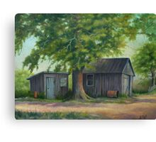 Country Shed Oil Painting Canvas Print