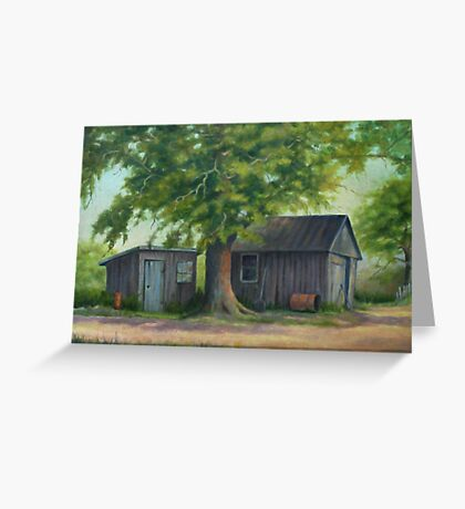 Country Shed Oil Painting Greeting Card