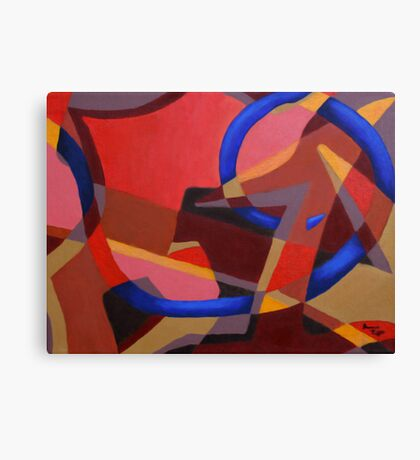 Abstract Acrylic Painting Canvas Print