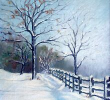 Winter Oil Painting by JamieTifft