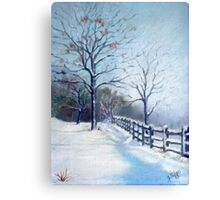 Winter Oil Painting Canvas Print