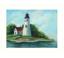 Lighthouse Oil Painting Art Print