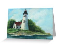 Lighthouse Oil Painting Greeting Card
