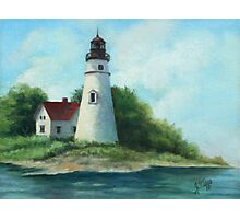 Lighthouse Oil Painting Photographic Print