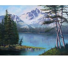 Lake Oil Painting Photographic Print