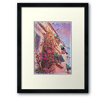 cascais buganvília Framed Print