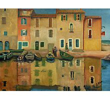 On the Water Oil Painting Photographic Print