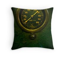Steam Punk Gauge (William G. Mather) Throw Pillow