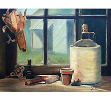 Tool Shed Still Life Painting Photographic Print