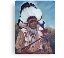 Native American Chief Painting Canvas Print