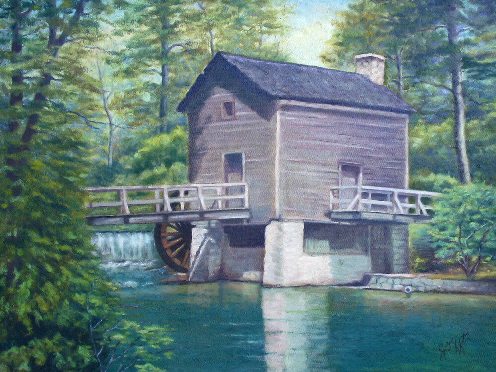 Old Mill Painting by JamieTifft