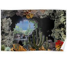 2315-Cactus Water Cave Poster