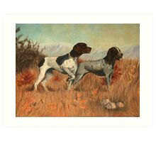 Hunting Dogs Painting Art Print
