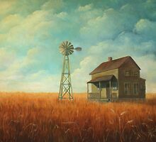 Windmill Farm Painting by JamieTifft