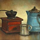 Coffee Pot and Grinder Painting by JamieTifft