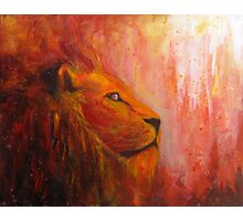 Lion Painting Photographic Print