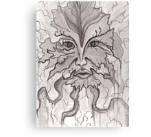 Nature's Face- Pen and Ink Canvas Print