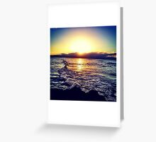 Dusk Break - The Pass, Byron Bay  Greeting Card