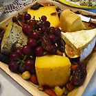Fresh fruit and cheese tray by MarianBendeth